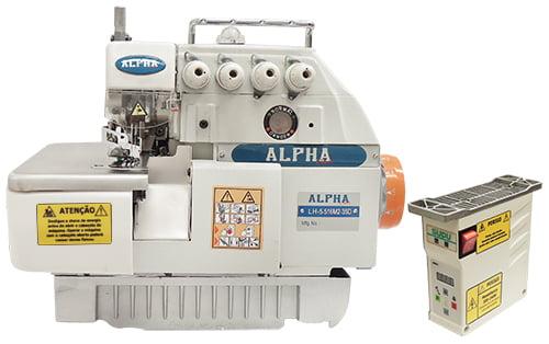 Interloque 5 fios Alpha com Direct Drive Alpha LH-5-516M2-35D