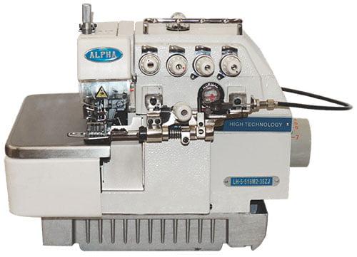 Interloque com aparelho franzidor Alpha LH-5-516M2-35ZJ