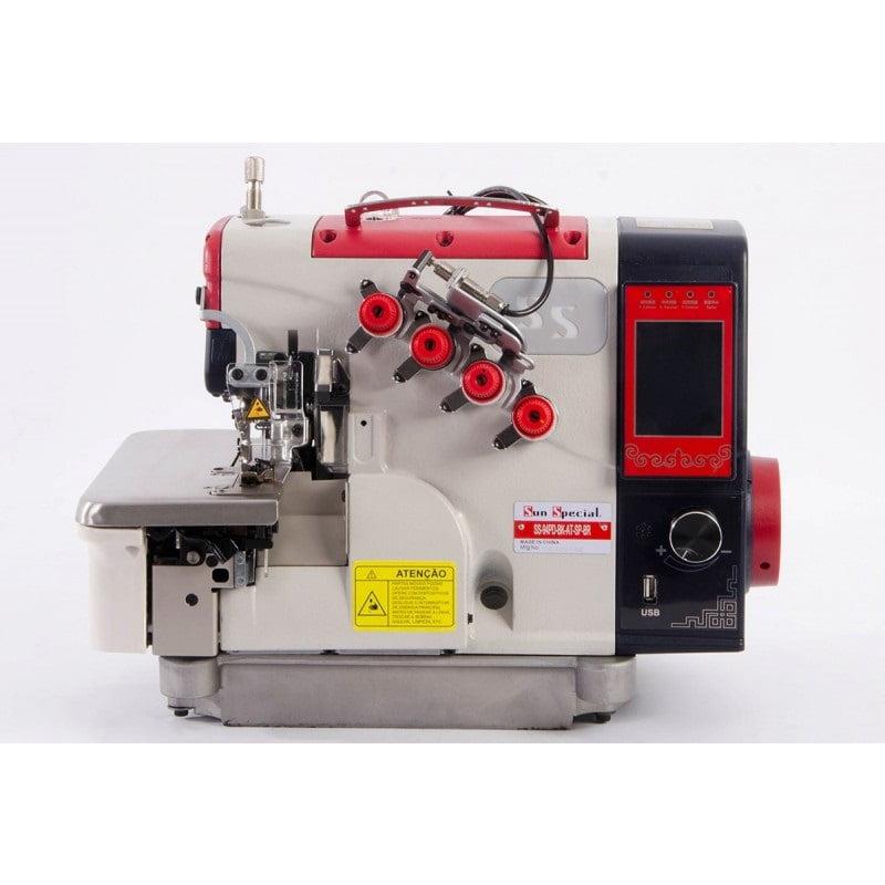 Máquina de Costura Overloque Ponto Cadeia Eletrônica Sun Special SS94PD-BK-AT-SP-BR